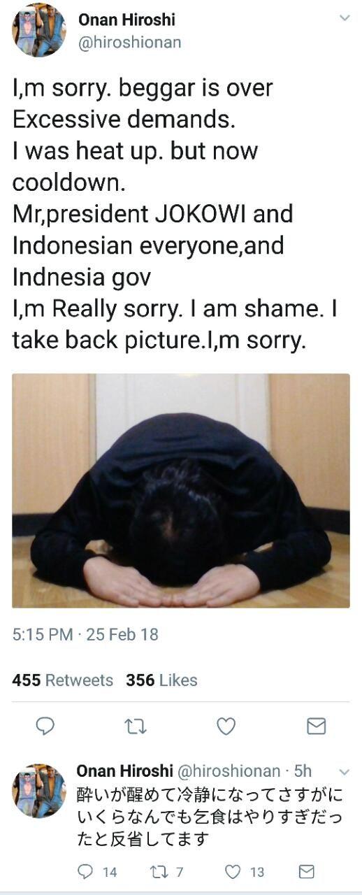 "LensaHukum.co.id - Komikus Jepang Onan Hiroshi yang Sindir Jokowi Minta Maaf - Komikus Onan Hiroshi yang Sindir Jokowi ""Minta Maaf"""
