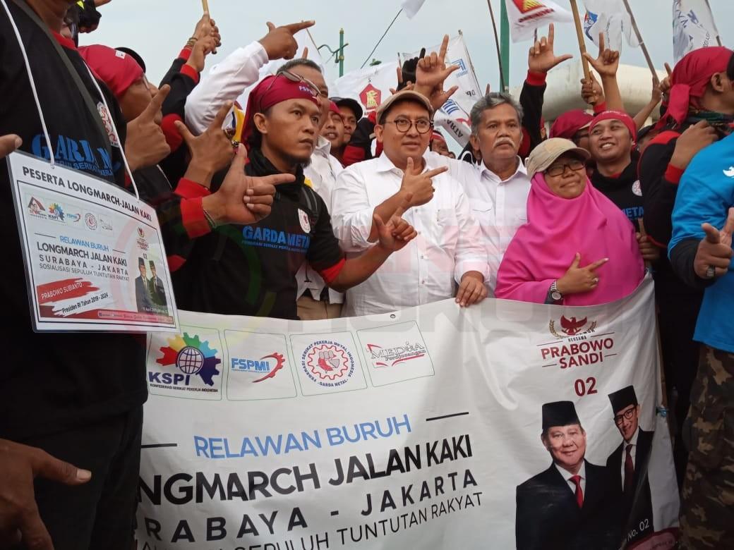 LensaHukum.co.id - IMG 20190406 WA0057 - Fadlizon Melepas Long-march KSPI Di Bekasi