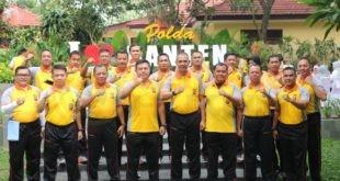 Polda Banten Rutin Laksanakan Olahraga Bersama