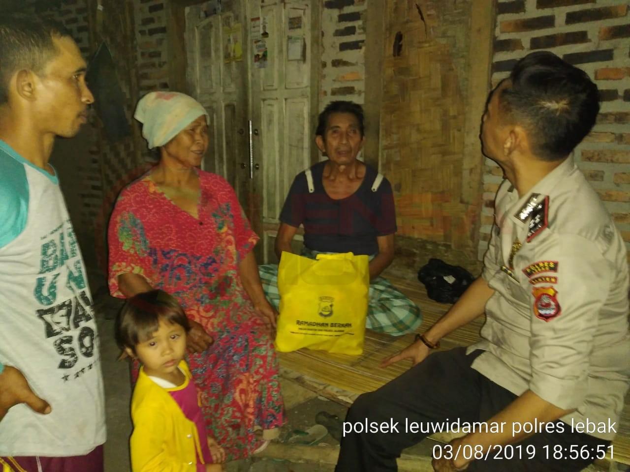 LensaHukum.co.id - IMG 20190804 WA0090 - Pasca Gempa Polres Lebak Patroli Ke Perumahan Warga